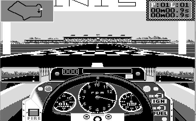 Grand Prix Circuit - болид на трассе